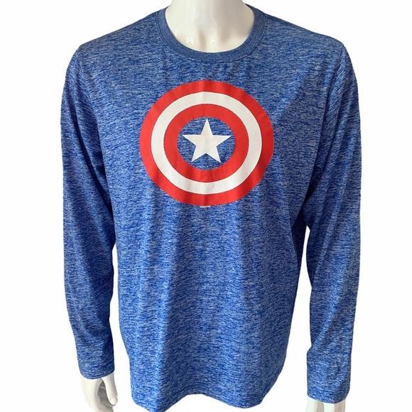 Marvel Captain America Long Sleeve Shirt